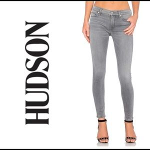 Hudson Mid Rise skinny gray-blue denim